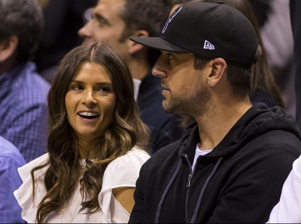 NASCAR driver Danica Patrick and her boyfriend Green Bay Packers QB Aaron Rodgers took in a show at