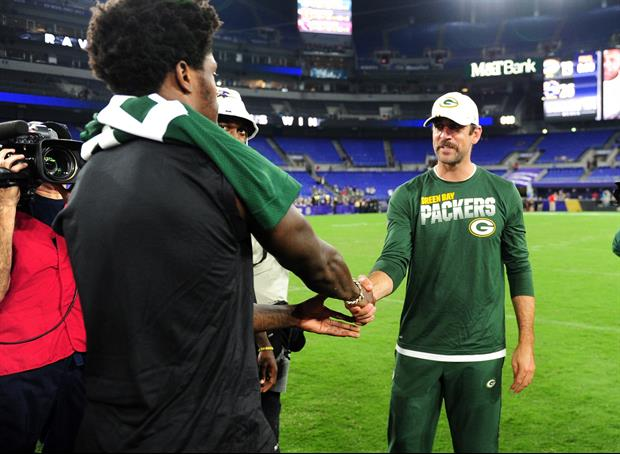 Here's The Advice Aaron Rodgers Gave Lamar Jackson After Their Pre-Season Game