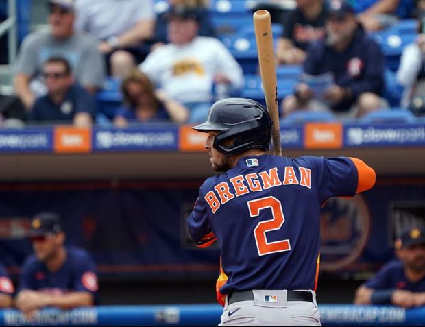 Mets Fans Seen Banging On Trash Cans During Alex Bregman's Spring Training At-Bat