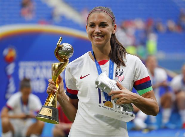 Alex Morgan Continues To Celebrate USWNT World Cup Win In A Pool & A Parade
