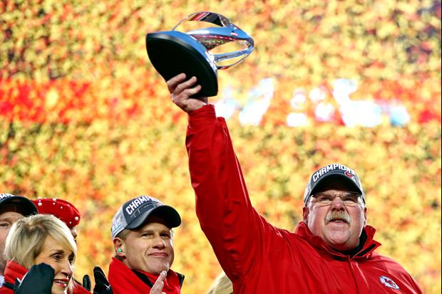 Chiefs Coach Andy Reid Celebrated Winning AFC Championship How You'd Think