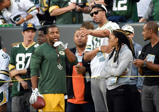 Anthony Davis Was At Lambeau Field Supporting WR Randall Cobb
