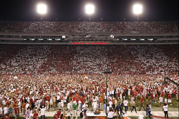 Arkansas' AD Mic'd Up As Students Stormed The Field After Beating Texas Is Awesome