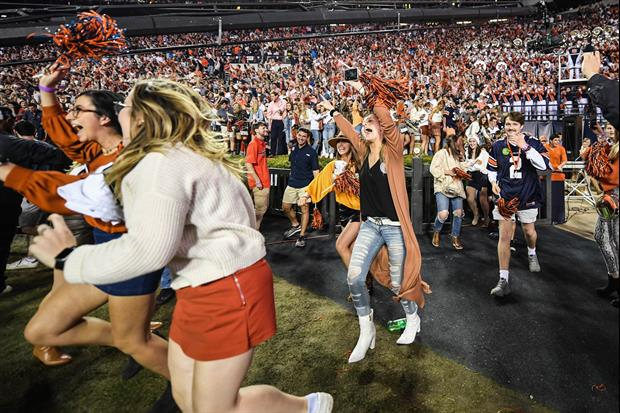 These Women Got Stuck In A Bush Trying To Rush The Field After Auburn's Iron Bowl Win