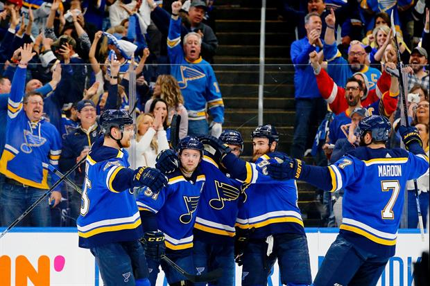 The wives and girlfriends of the St. Louis Blues  made it to Boston on Wednesday night for Game 2 of