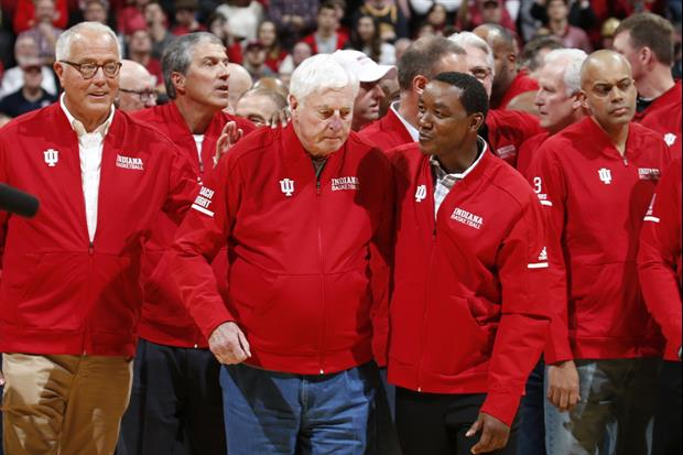 Dick Vitale Got Handsy With Bobby Knight During His Emotional Return To Indiana