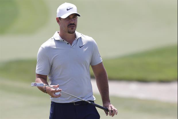 Brooks Koepka Shows Off His Left-Handed Swing