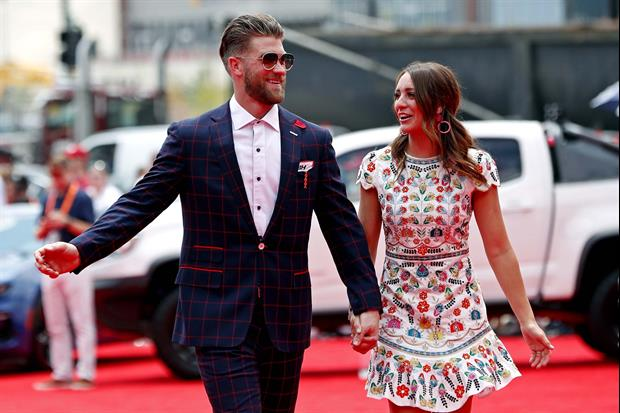 Girl Tries To Slide In Bryce Harper's DMs & Instead Slides Into His Pregnant Wife's