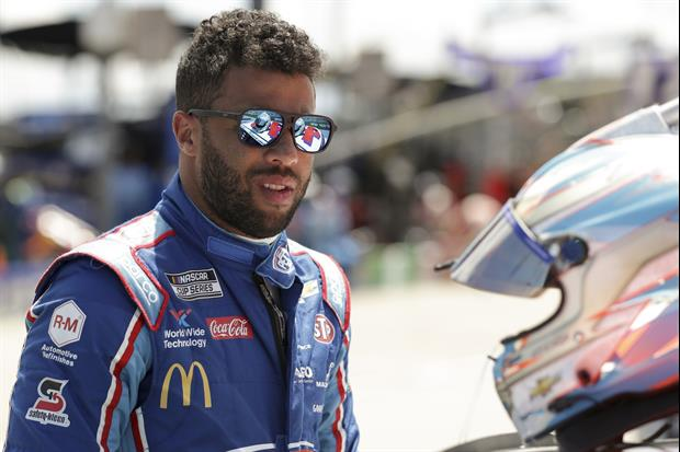 Bubba Wallace Unveils New Michael Jordan-Owned Race Car, Black & Red #23
