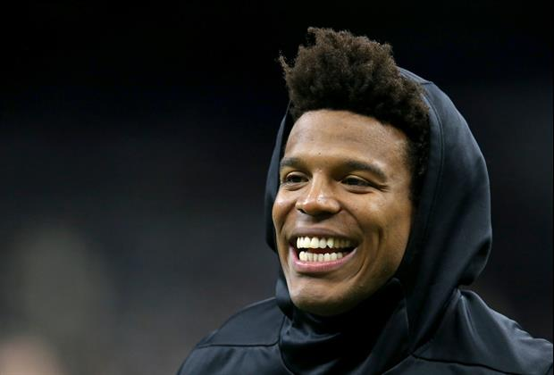 Check Out Cam Newton's Funny Reaction To Auburn Beating Oregon