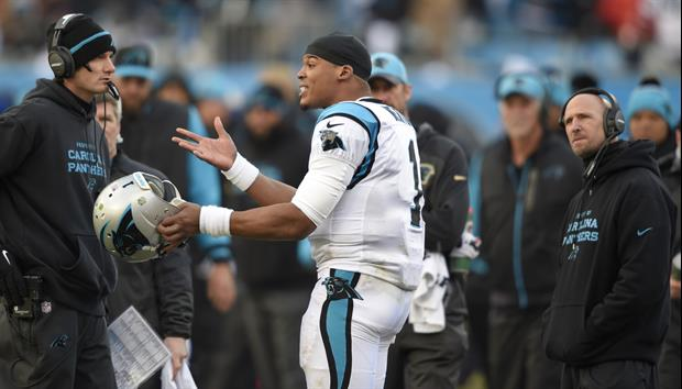 Frustrated Cam Newton Loses Cool On His Coaches On Sidelines