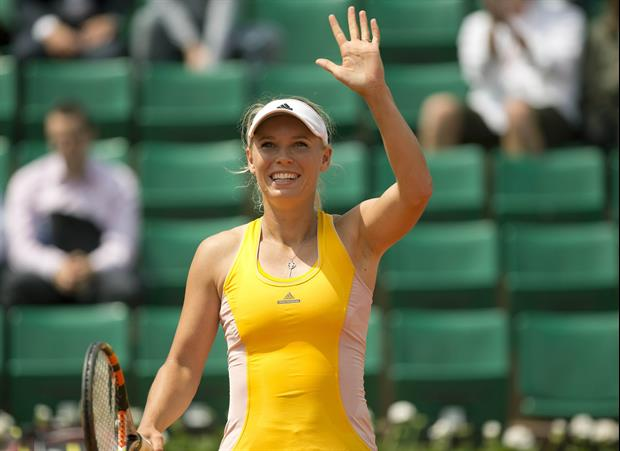 Caroline Wozniacki Has Been Working On Her Abs While At Harvard Business School