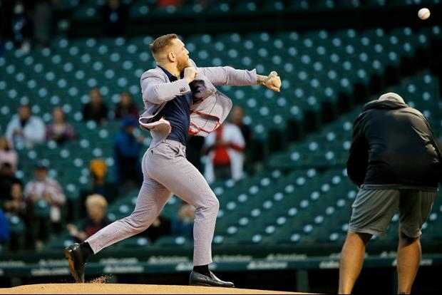 Conor McGregor Responds To People Comparing His Awful First Pitch To 50 Cent's
