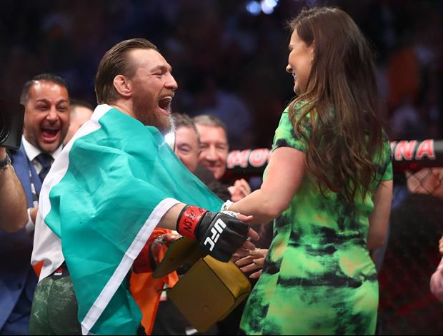 UFC champ Conor McGregor proposed to his girlfriend Dee Devlin this weekend.