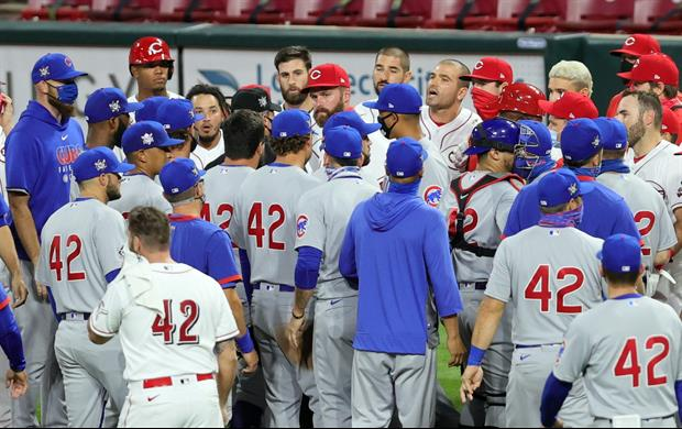 Benches Clear In Cubs Game Because Tejay Antone Threw At Anthony Rizzo's Head