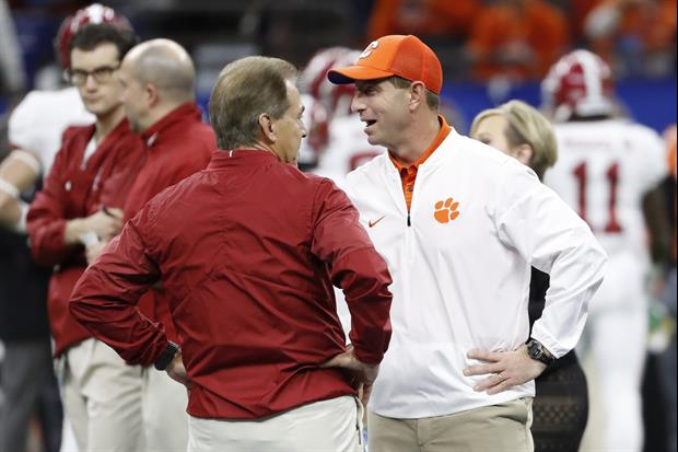 Here's Dabo Swinney Quote About Nick Saban's Absence From CFB Playoff