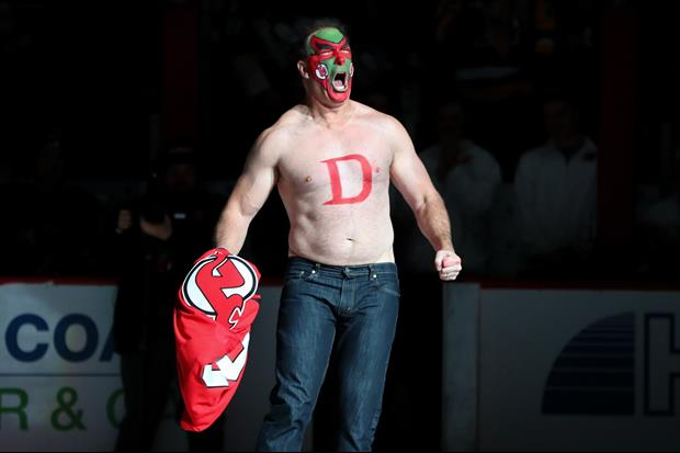New Jersey Devils Had David Puddy On Hand For David Puddy Bobblehead Night