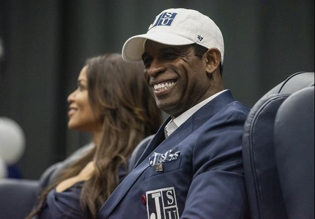 New head coach Deion Sanders Unveils Jackson State's New Jerseys.........