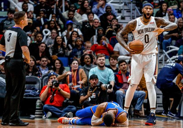 DeMarcus Cousins Elected After Elbowing Russell Westbrook In The Head