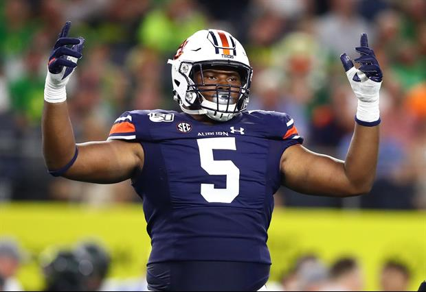 Auburn Star Derrick Brown Upset With Headline About His Girlfriend After Getting Drafted