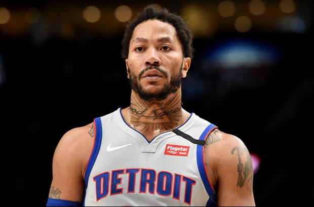Derrick Rose Impressed His Memphis Teammates With His Jump Over A Bar To Help Them Fight