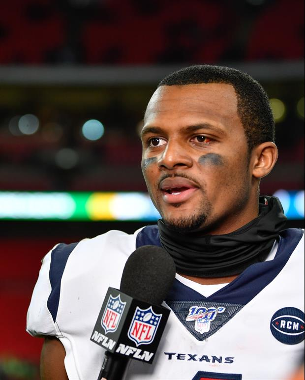 Texans QB Deshaun Watson Reveals Popeye Spicy Chicken Sandwich Helped Heal His Eye