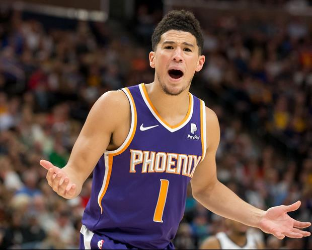 Watch Suns' Star Devin Booker Complain About Getting Double-Teamed During Pickup Game