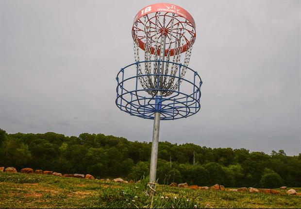 Watch The Crowd Go Crazy After This Incredible Disc Golf Shot