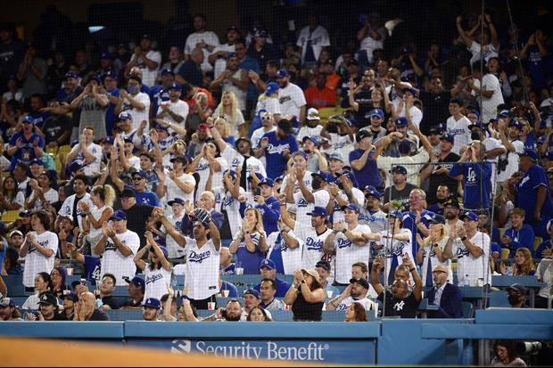 Chaos Last Night As Dodgers Fans Fight Each Other And Security Guards In Stands