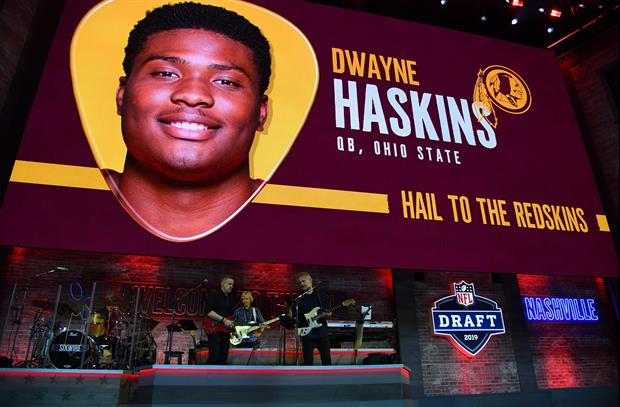 Here was Ohio State QB Dwayne Haskins' reaction when he learned that the New York Giants selected Du