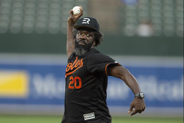 Hall Of Fame Safety Ed Reed Crushing Bombs During Orioles Batting Practice