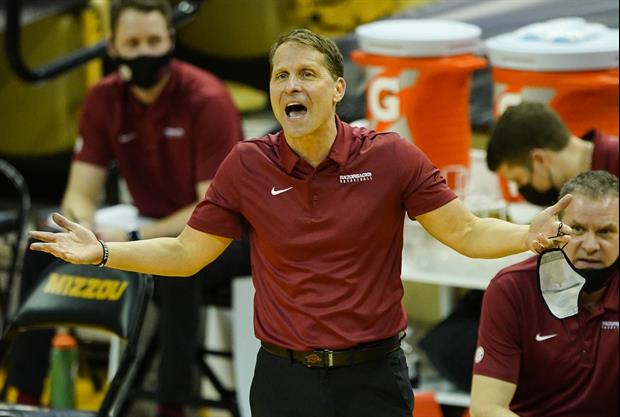 Eric Musselman Ripped His Shirt Off, Yelled 'THAT'S WHAT'S UP' To Celebrate Beating Mizzou