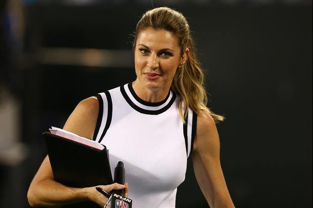 Erin Andrews Uses One Word To Describe Her Bucs Vs. Saints Game Experience