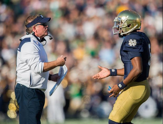Two Notre Dame quarterback will play in the Music City Bowl against LSU.