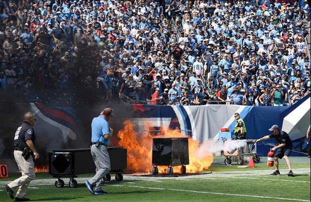 A Big Fire Broke Out On Field At Nissan Stadium During Titans Game