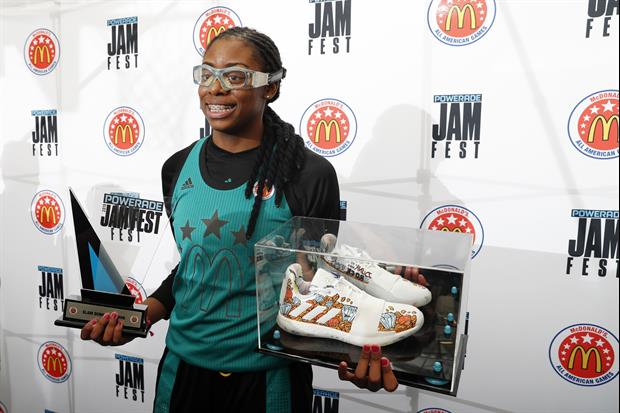 Stanford Recruit Francesca Belibi Impressively Wins McDonald's All-American Dunk Contest