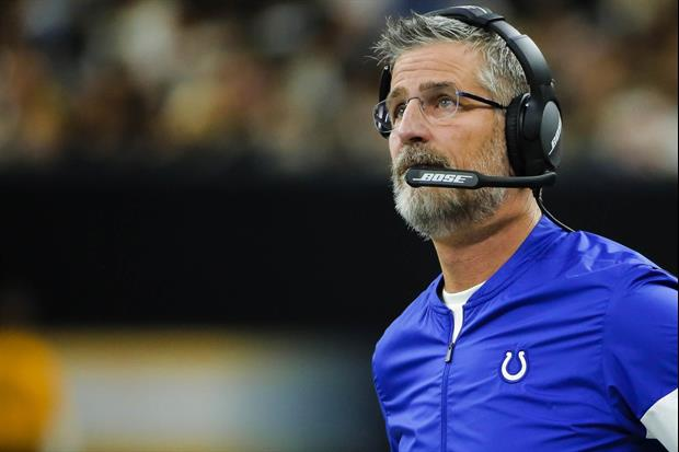 Watch Colts Head Coach Frank Reich Teach His Toddler Granddaughter About Ball Security