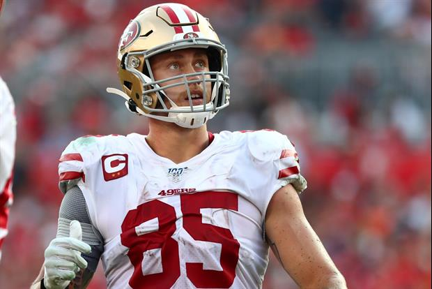 49ers Star TE George Kittle Gets Massive 'HALO' Tattoo Of Master Chief