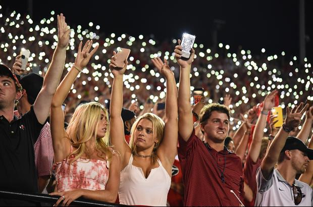 A lot Georgia fans showed up, watched their Bulldogs spank Vanderbilt 30-6, and lit up the stadium..