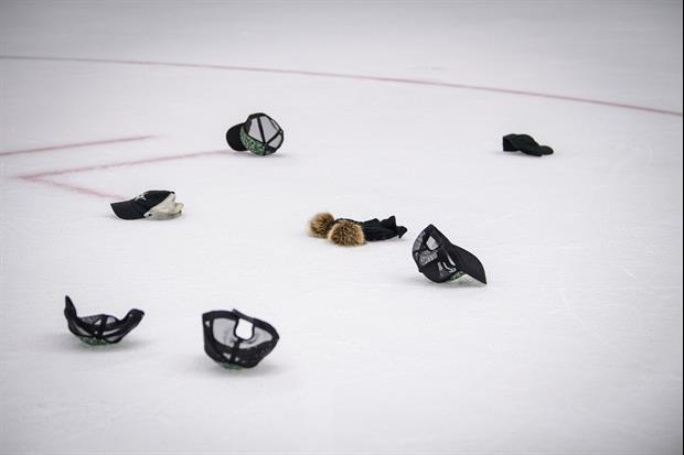 The NHL Has Someone Throw Hats On The Ice After Hat Tricks.....