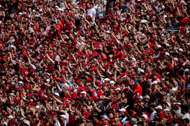 Indiana's Student Section Ripped Out A Bleacher During Saturday's Game
