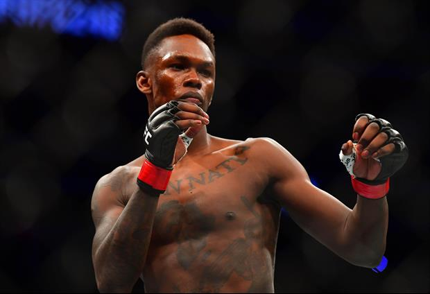 UFC's Israel Adesanya Held A Pizza Box In His Hand For His Lightweight Weigh-In Friday
