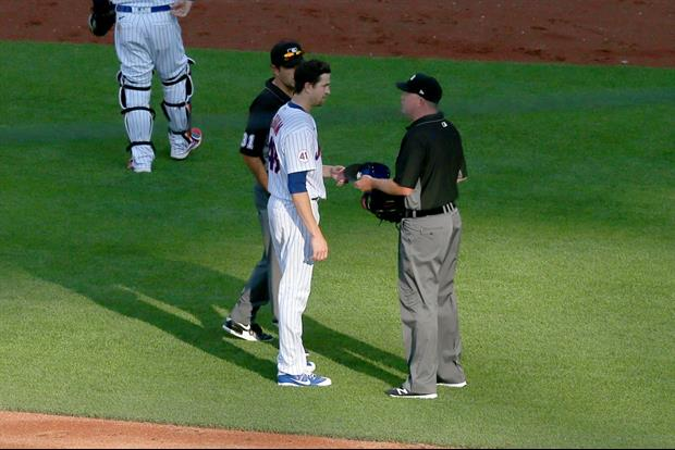 Mets Jacob deGrom Became The First Pitcher To Be Inspected For Sticky Stuff Yesterday