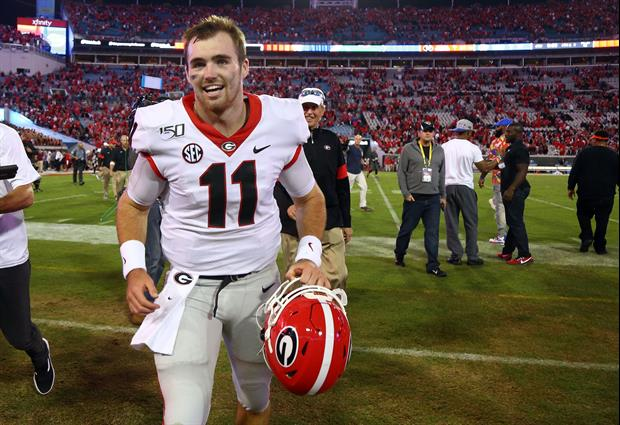 Jake Fromm & His Brother Tyler Share A Nice Moment After Georgia/Auburn Game