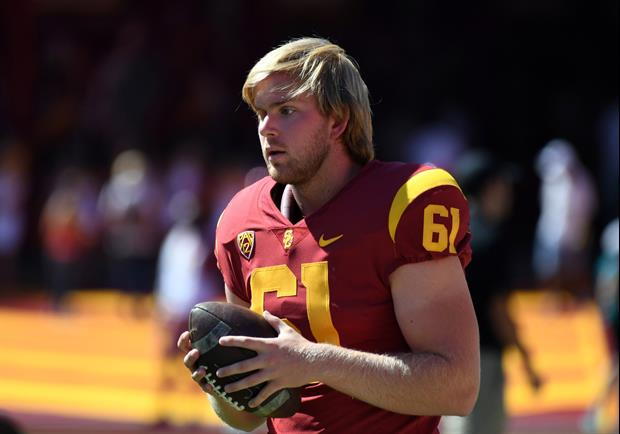 USC's Blind Long Snapper Jake Olson Can Drive A Golf Ball Very Well & Far