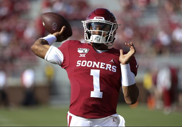Check Out Pics Of Oklahoma QB Jalen Hurts Working Out Right After South Dakota Game