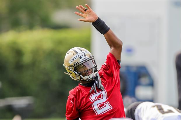 Saints QB Jameis Winston Didn't Have His Best Moment During This Drill...
