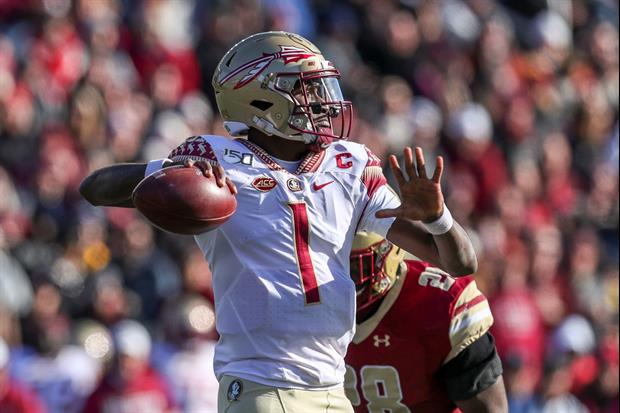 Florida State QB James Blackman Took Scissors & Cut Out Boston College Field Turf