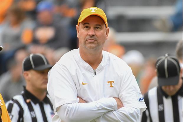 Tennessee Coach Jeremy Pruitt Firred His Assistant Coach During The Kentucky game
