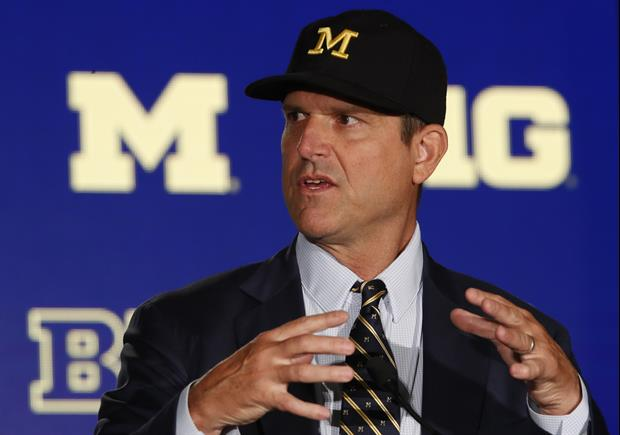 This Was Jim Harbaugh's Reaction To The BIG 10 Playing Football